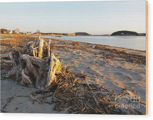 Popham Beach State Park - Phippsburg Maine Usa Wood Print