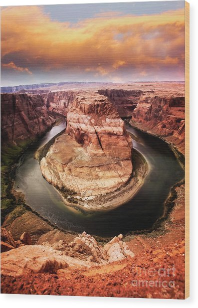 Wood Print featuring the photograph River Bend by Scott Kemper