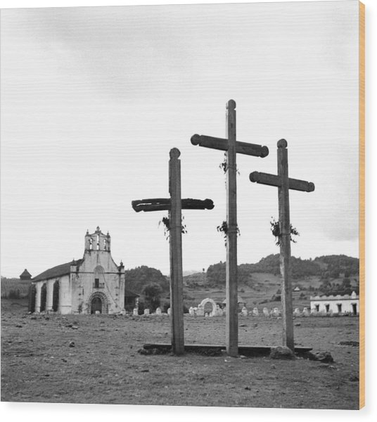 San Juan Chamula, Mexico Wood Print by Michael Ochs Archives