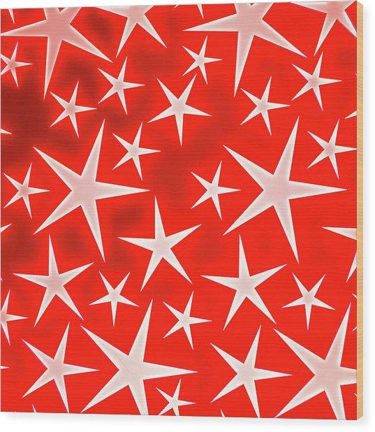 Star Burst 3 Wood Print