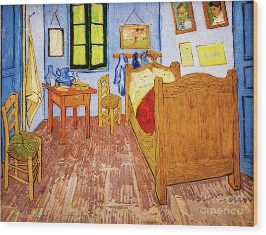 Van Gogh's Bedroom At Arles Wood Print