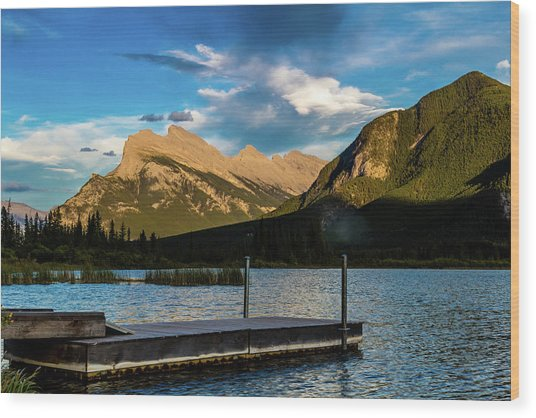 Vermillion Lakes, Banff National Park, Alberta, Canada Wood Print