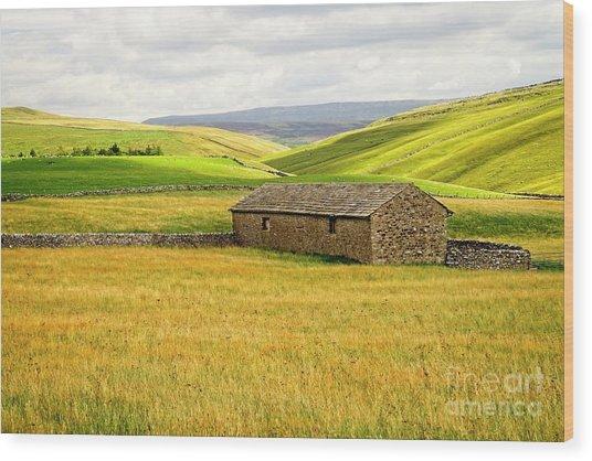 Yorkshire Dales Landscape Wood Print