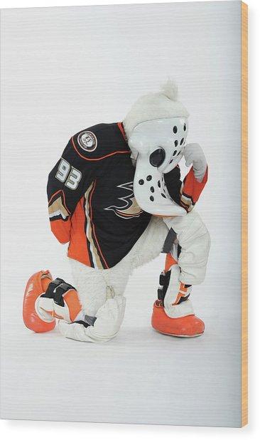 2012 Nhl All-star Game - Mascot Wood Print