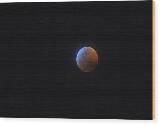 2019 Lunar Eclipse Wood Print
