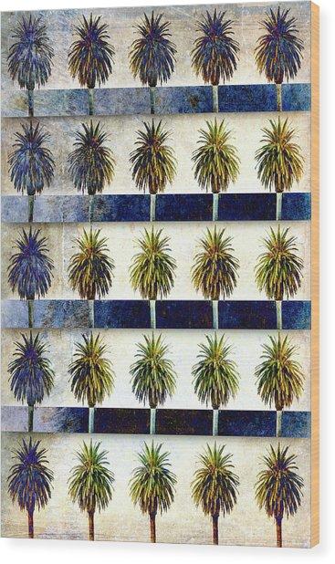 25 Palms Wood Print