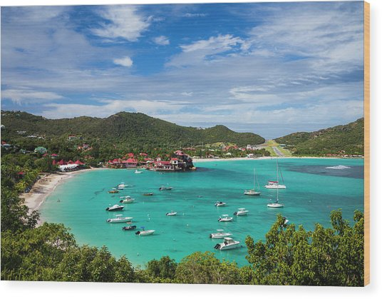 French West Indies, St-barthelemy Wood Print by Walter Bibikow