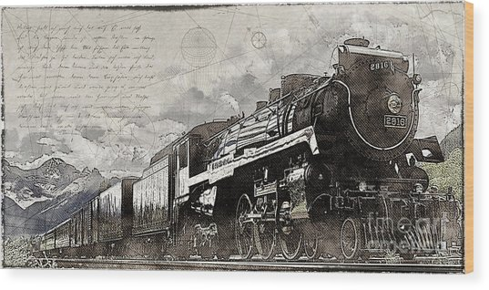 2816 At Banff Siding Wood Print