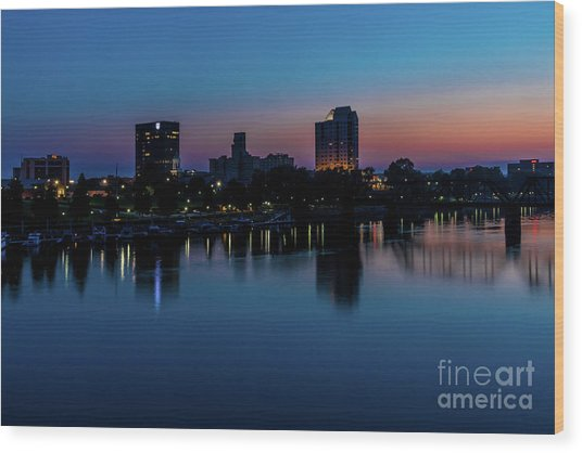 Augusta Ga - Savannah River Wood Print