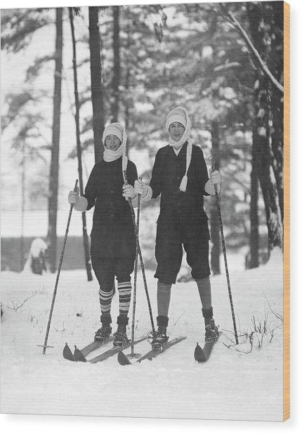 Cross Country Skiing Wood Print