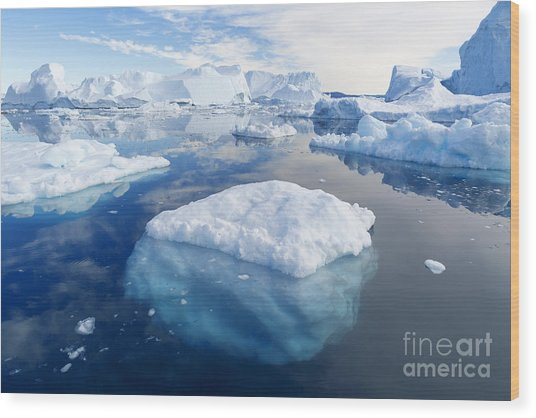 Nature And Landscapes Of Greenland Wood Print