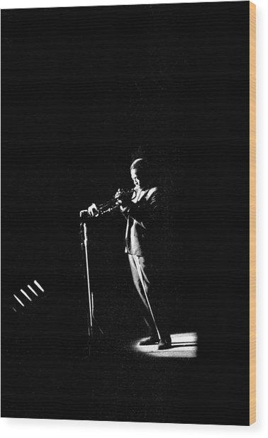 Photo Of Miles Davis Wood Print by David Redfern
