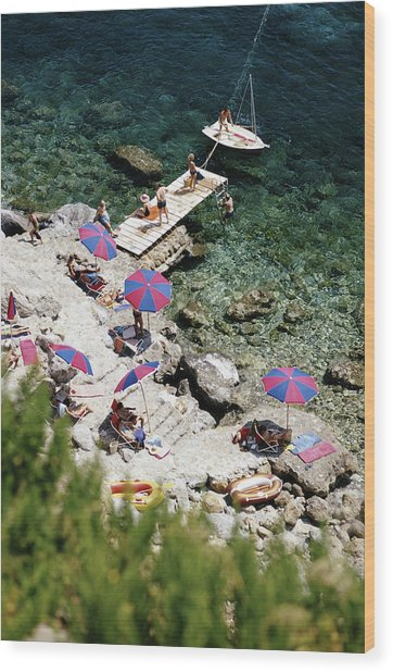 Porto Ercole Wood Print by Slim Aarons