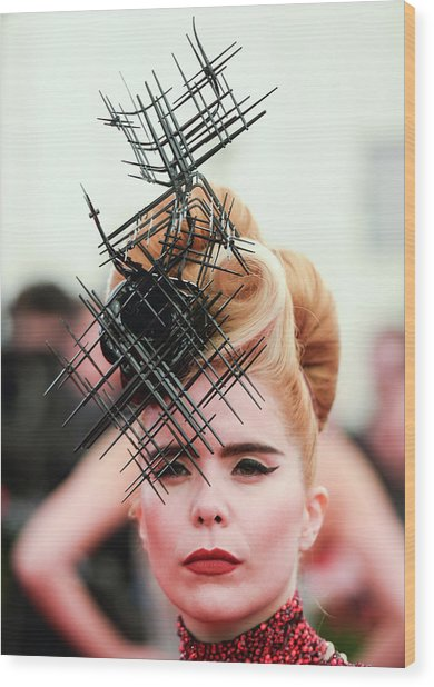 Punk Chaos To Couture Costume Institute Wood Print by Andrew H. Walker