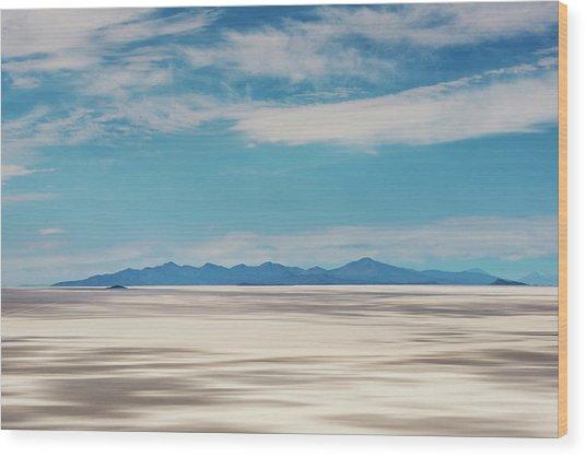 Salar De Uyuni, Bolivia Wood Print by Anthony Asael