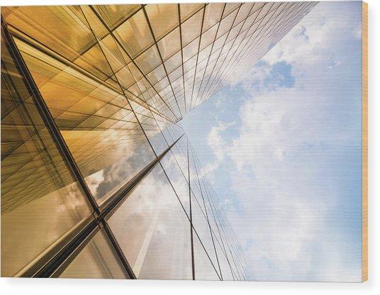 Skyscraper Wood Print by Mmac72
