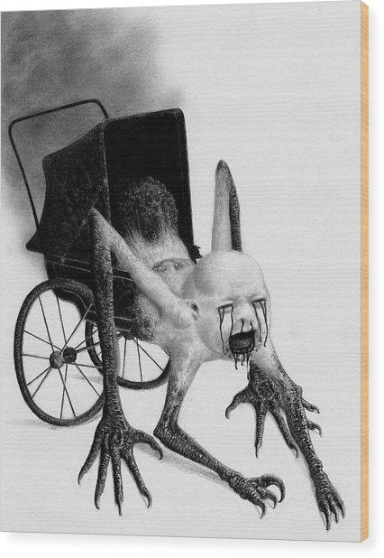 The Nightmare Carriage - Artwork Wood Print