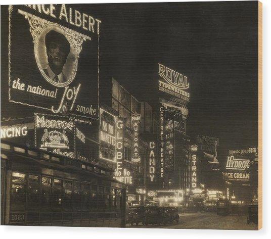 Times Square Wood Print by Edwin Levick
