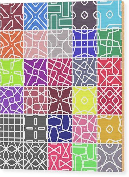 4 Connect 2 Grid Wood Print