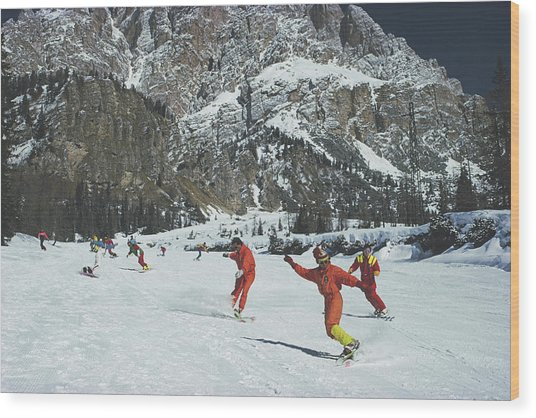 Cortina Dampezzo Wood Print by Slim Aarons