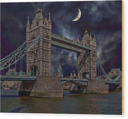 London Tower Bridge Wood Print