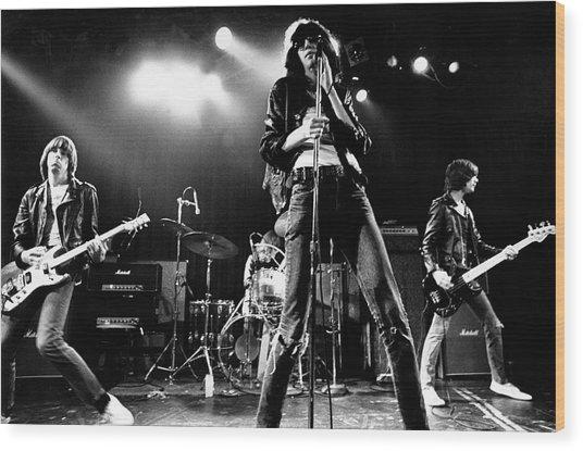 Photo Of Ramones Wood Print by Michael Ochs Archives