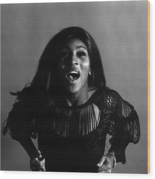 Tina Turner Wood Print by Jack Robinson