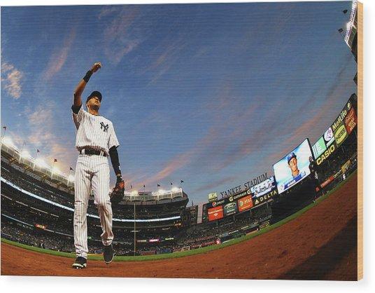 Toronto Blue Jays V New York Yankees - Wood Print by Al Bello