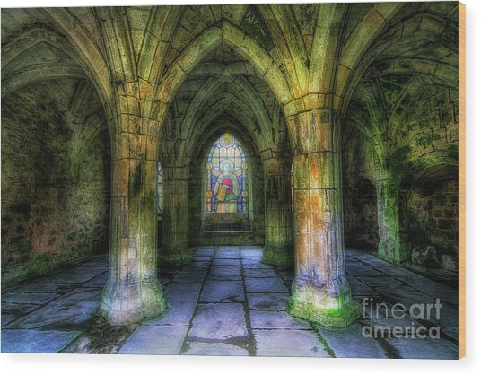 Valle Crucis Abbey Wood Print