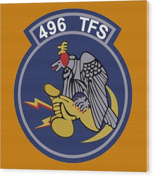 496th Tactical Fighter Squadron  Wood Print