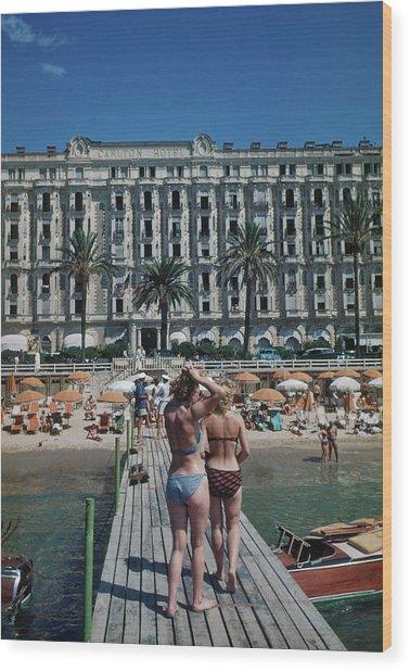 Cannes France Wood Print