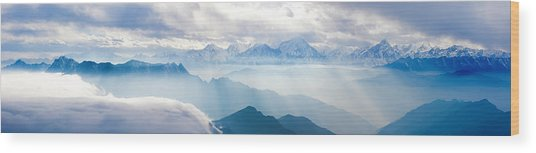 Landscapes In China Wood Print by 4x-image