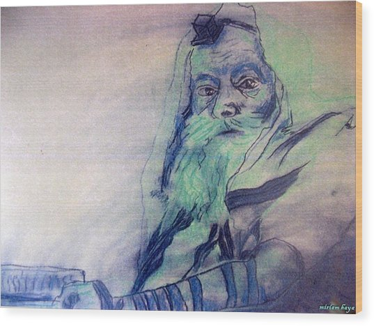 Lubavitcher Rebbe Wood Print by Miriam haya Elbaz