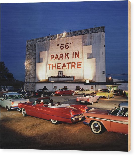 66 Park-in Theater Wood Print