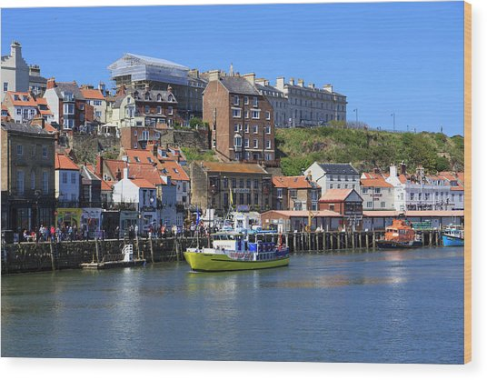 England, North Yorkshire, Whitby Wood Print by Emily Wilson