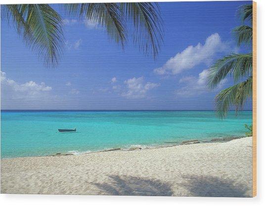 7 Mile Beach, Cayman Islands Wood Print by Myloupe/uig