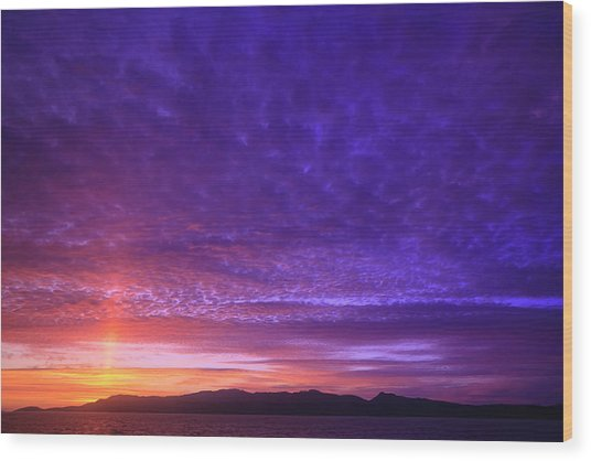 Vibrant Summer Sunset, Inside Passage Wood Print by Stuart Westmorland