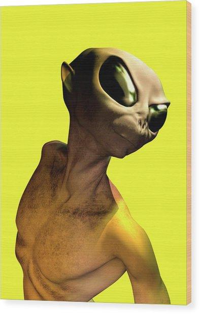Alien, Artwork Wood Print by Victor Habbick Visions