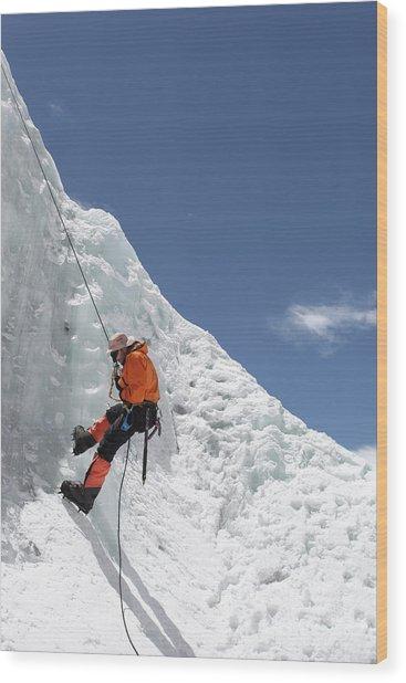 Climbing Mt. Everest Wood Print