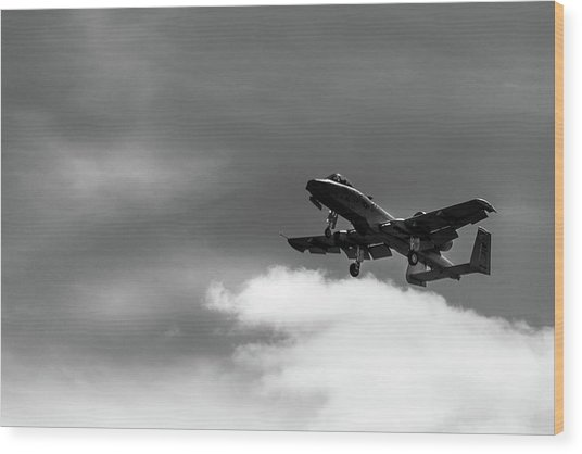 A-10 Slow Pass Wood Print