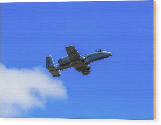 A-10c Thunderbolt II In Flight Wood Print
