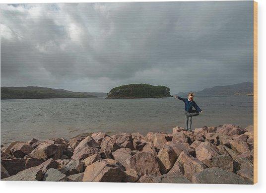 A Charming Little Girl In The Isle Of Skye 1 Wood Print