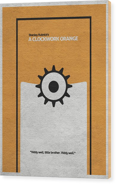 A Clockwork Orange Wood Print