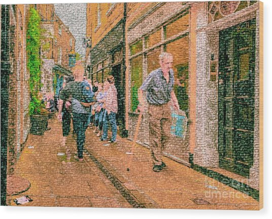 A Day At The Shops Wood Print