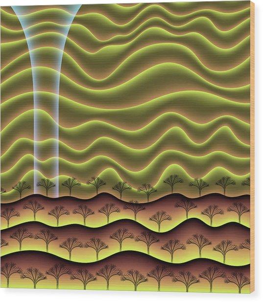A Faint Glow On The Horizon Wood Print