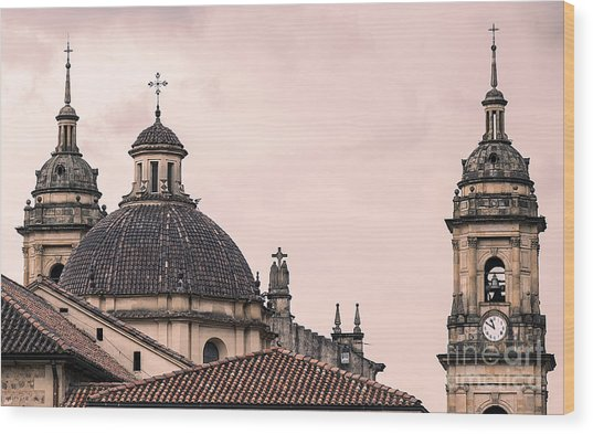 A Famous Cathedral In Bogota, Colombia Wood Print