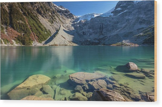 Wood Print featuring the photograph A Gem In The Mountains by Pierre Leclerc Photography