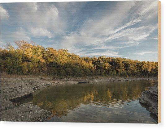 Wood Print featuring the photograph A Hint Of Fall by Scott Bean