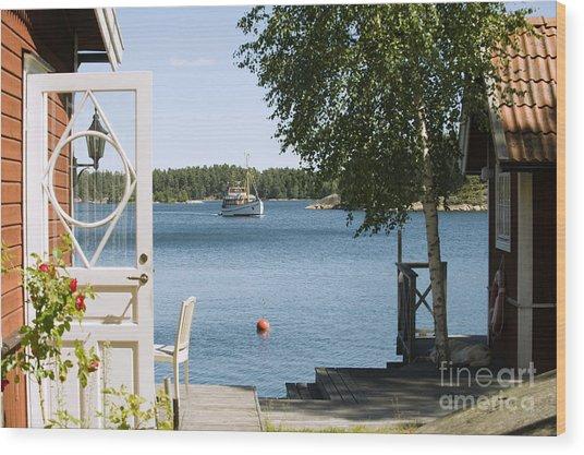 A House In Stockholm Archipelago, Sweden Wood Print