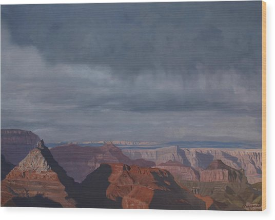 A Little Rain Over The Canyon Wood Print